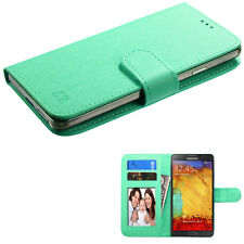 "Universal Cell Phone Cover Leather Flip Wallet Case Slide Camera Size 4.7""- 5.2"""