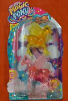 MAGIC PONY PINK AND YELLOW LOT OF 2 UNICORNS - UNICORN IS 3 INCHES TALL AGE 4+ T