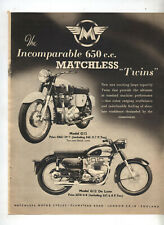 Matchless G12 Motorcycle Original Advertisement from a Magazine