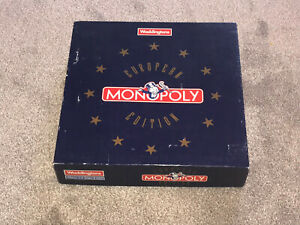 MONOPOLY GAME : RARE 1991 EUROPEAN EDITION By WADDINGTONS - VGC (FREE UK P&P)