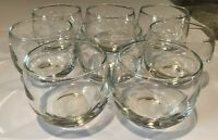 """Vintage Floral Etched Clear Glass 2.5"""" Votive Holders Round Set Of 8"""