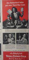 1943 Royal Crown RC Cola Ann Rutherford Third War Loan WWII Original Ad