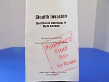 STEALTH INVASION RED CHINESE OPS in AMERICA Publisher's Proof US Intelligence