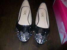 New Enimay Black Rhinestone Flat Shoes Size Women's 5