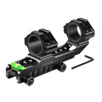 "Cantilever 1"" To 30mm Scope Mount With Bubble Level Picatinny Rails"