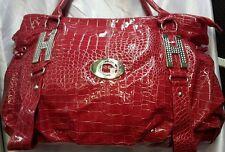 Women's Ladies New Snakeskin Fashion Handbag Red