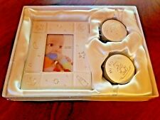 BABY'S MY FIRST SET, ONE CURL BOX, ONE TOOTH BOX AND A 2X3 INCH PHOTO FRAME NEW
