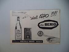 advertising Pubblicità 1961 OLIO BERIO