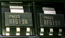 2 pcs bfg198 philips wideband rf NPN transistor FT = 8 GHz sot223 (m1472)