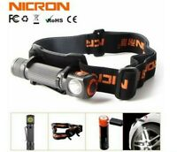 Nicron LED Rechargeable Headlamp Inspection Magnetic Flashlight HeadLight Torch