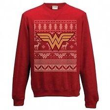 Wonder Woman Crewneck Sweatshirt Jumper Fair Isle Logo XXL