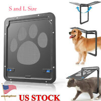 Pet Screen Door Dog Footprint Pattern Cat Door Window Screen Flap Safe Supplies