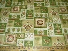 "~20 YDS~""MONKEYS ANIMAL FLOWERS""~COTTON UPHOLSTERY FABRIC FOR LESS~"