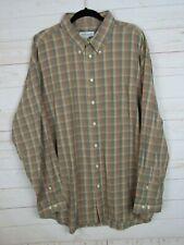 Joseph & Feiss Mens Long Sleeve Brown Plaid Button Up Shirt Size XXL