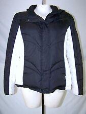 MAC Mackintosh New England Black White Jacket Coat Womens Size Large 12 14