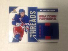 2010-11 ARTEM ANISIMOV Panini Pinnacle Threads Jersey #d/499 Rangers Blackhawks
