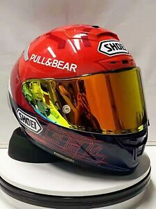 Full Face Helmet Shoei X14  Motorcycle Gp Moto Red Racing Lucky Cat Marc Marquez