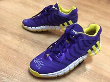 SIGNED JEREMY LIN ADIDAS LAKERS GAME USED WORN SHOES AUTO JSA PE SAMPLE PROMO