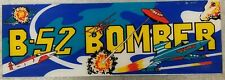 """Vintage """"B-52 Bomber"""" Arcade Video Game Marquee"""