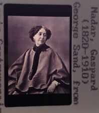"""Gaspard Nadar """"George Sand 1877"""" 35mm Early French Photography Slide"""