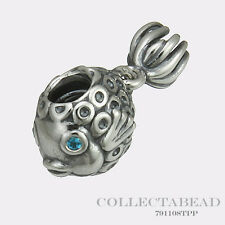 Authentic Pandora Sterling Silver Deep Blue Topaz Splash Bead 791108TPP