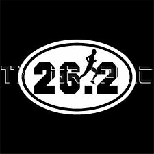 26.2 MARATHON STICKER MAN VINYL OVAL DECAL  RUNNER RUNNING