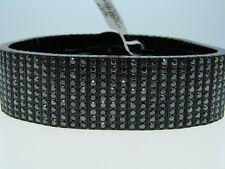 36 Ct Pvd Mens 10 Row 24 Mm Black Diamond Xl Bracelet
