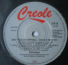 """ENIGMA - Ain't No Stopping - Excellent Con 7"""" Single"""
