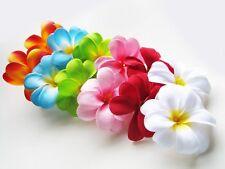 "12 Assorted Hawaiian Plumeria Frangipani 3"" Artificial Silk Flower Head Wedding"