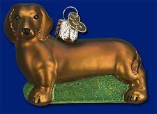 DACHSHUND OLD WORLD CHRISTMAS BLOWN GLASS WIENER SMALL DOG BREED ORNAMENT 12219
