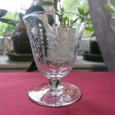 Glass Wine Red Crystal Of Baccarat Model Argentina Signed