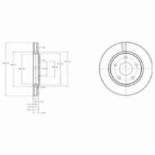 Bremsscheibe (2 Stück) - Delphi BG4212