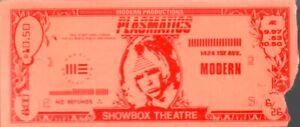 PLASMATICS / WENDY O. WILLIAMS 1981 SHOWBOX THEATRE SEATTLE TICKET STUB VG 2 EX
