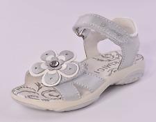 Primigi Lina INFANT ragazze argento in pelle Riptape Tg UK 8 EU 26 RRP £ 38
