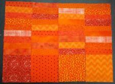 "40 orange 4"" x 4"" fabric squares 4 squares from 10 different prints"
