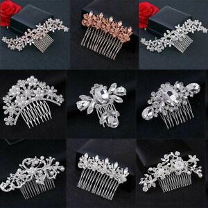 Bridesmaid Flower Wedding Hair Pins Crystal Diamante Pearls Bridal Clips Comb