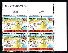 Finland 1989 Used Block of 4 - Hämeenlinna Town 1639-1989 - First Day Cancel