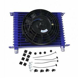 """Universal 15 Reihe 10AN Ölkühler Motor Getriebe + 7"""" 12V 80W Elektrische Lüfter"""