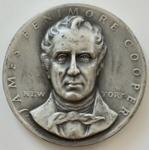 Medallic Art Co. James Fenimore Cooper the Seal of NY 1776 Silver Medal .999