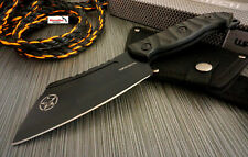 "9.5"" Wartech Black Cleaver Fixed Blade Skull Hunting Knife Full Tang W/ Sheath"