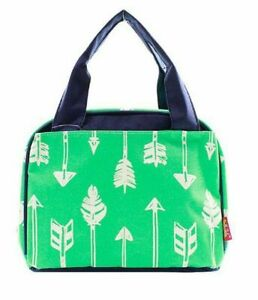 Feather Arrow Lunchbox Aztec School Work Insulated Lunch Box Bag Blue Green