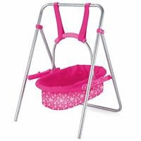 Snuggles Doll Swing Cradle Metal Frame Removable Carry Cot Adjustable Handle