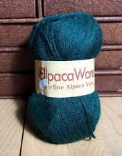 1 Skein FOREST GREEN SUPERFINE ALPACA WOOL YARN 50 Grams