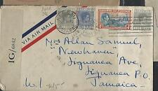 BAHAMAS COVER (P1211B)1945 KGVI 1DX2+3D+4D CENSORED COVER TO JAMAICA ARRIVAL BS