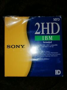 Sony 2HD IBM MFD Formatted Disks - Pack Of 10 - Box Opened Never Used