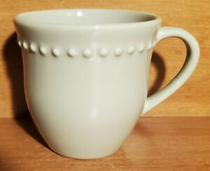 "Pottery Barn EMMA CELEDON Mug, 3 3/4"", Beaded, Portugal, Excellent"