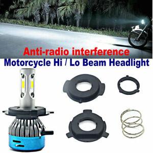 H4 P43T BA20D P15D 50W LED Motorcycle Motorbike Headlight Bulbs Kit Hi/Lo Beam