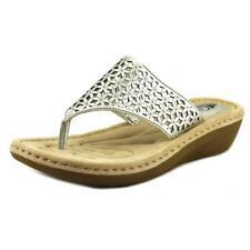 Calzado de mujer sandalias con tiras de color principal plata talla 38