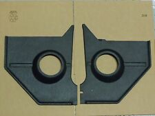1965 1966 MUSTANG BLACK SPEAKER KICK PANEL PAIR, MADE IN USA