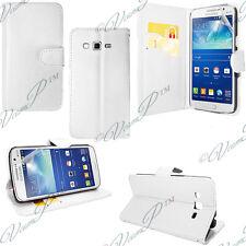 Cover Custodia Portafoglio Video pelle bianca Samsung Galaxy Core LTE G386W